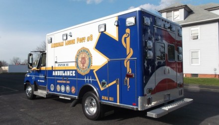 American Legion #8 Ambulance by Rogers Sign