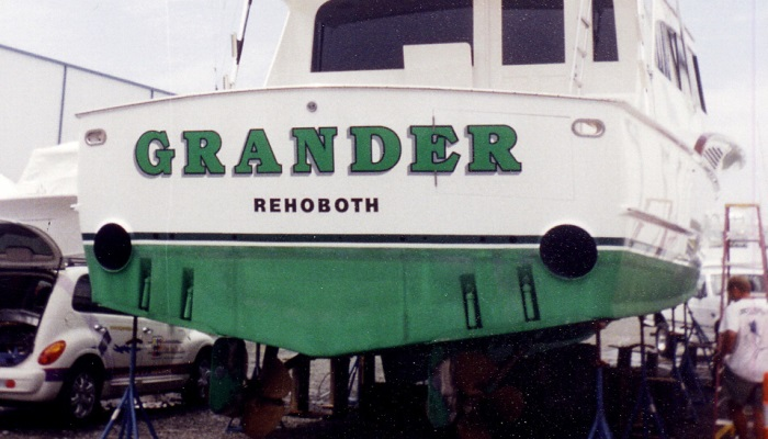 Rogers Sign, Boat Lettering in Delaware & Maryland