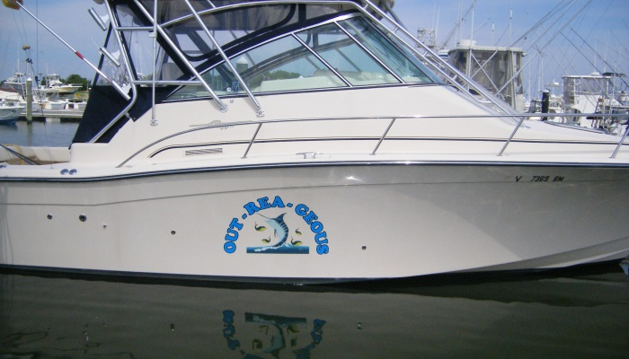 Boat Lettering in Delaware & Maryland, Rogers Sign