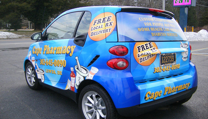 Cape Pharmacy Vehicle Wrap, Delaware